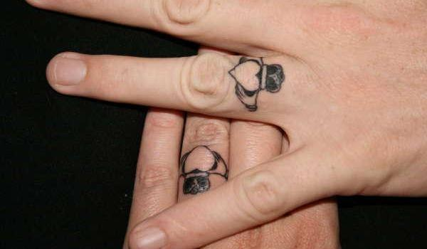 claddagh wedding rings tattoo 45 Astounding Finger Tattoos