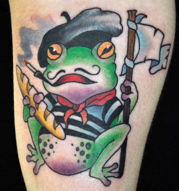 French frog tattoo