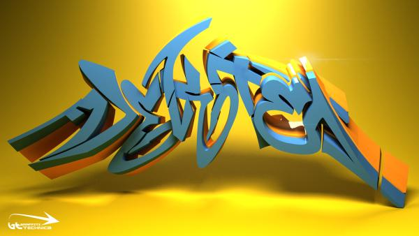 3d graffiti 60 Swanky Graffiti Alphabet Collection
