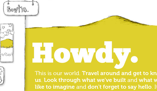 bowtie 30 Amazing Hand Drawn Website Designs