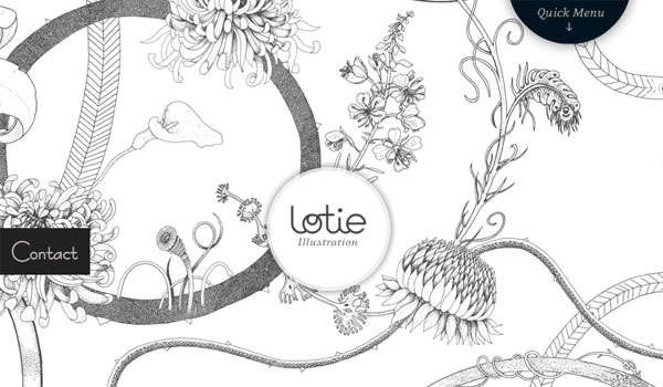 lotie 30 Amazing Hand Drawn Website Designs