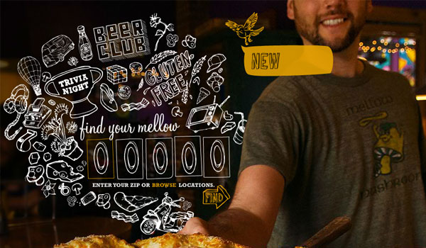 mellow mushroom 30 Amazing Hand Drawn Website Designs