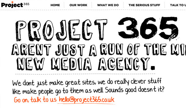 project 365 30 Amazing Hand Drawn Website Designs