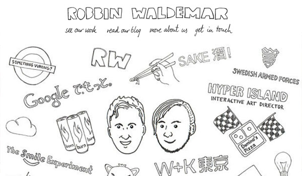robin waldemar 30 Amazing Hand Drawn Website Designs