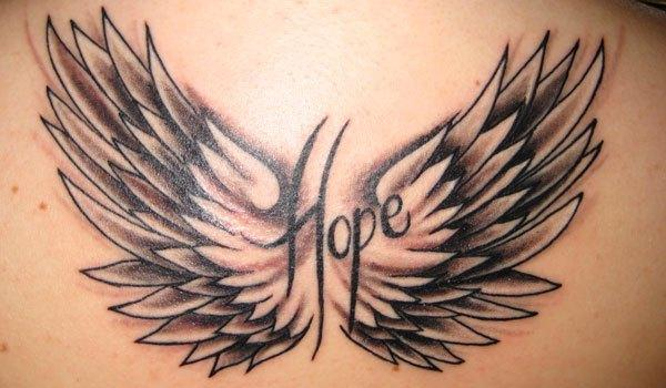 Back Hope Tattoo