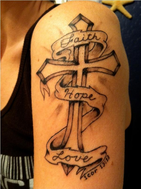 Cross And Hope Tattoo