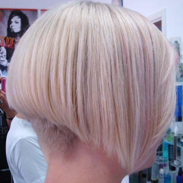 Short Inverted Bob Hairstyle Back