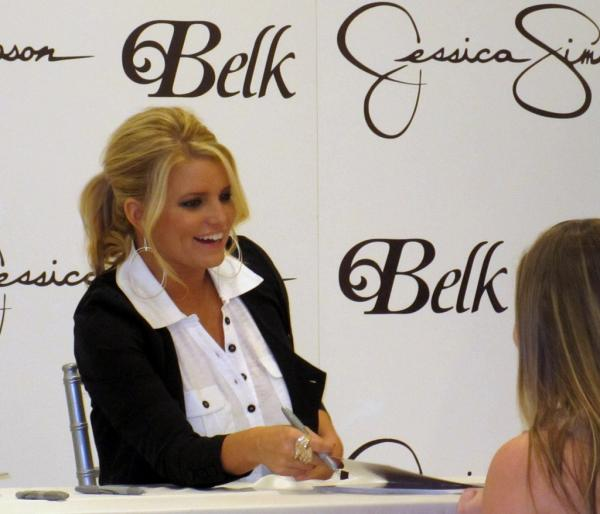 Jessica Simpson At Park Belk