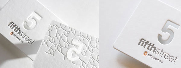 Beautiful White Letterpress