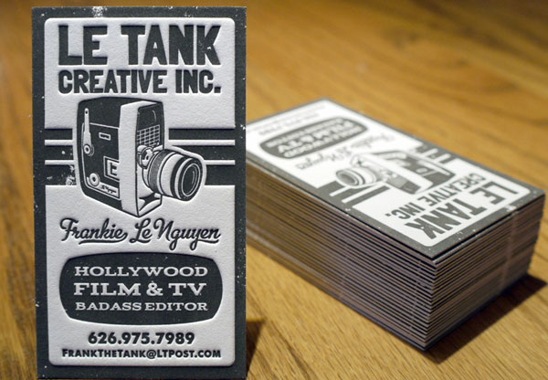 35 awesome letterpress business cards slodive le tank letterpress business card reheart Image collections