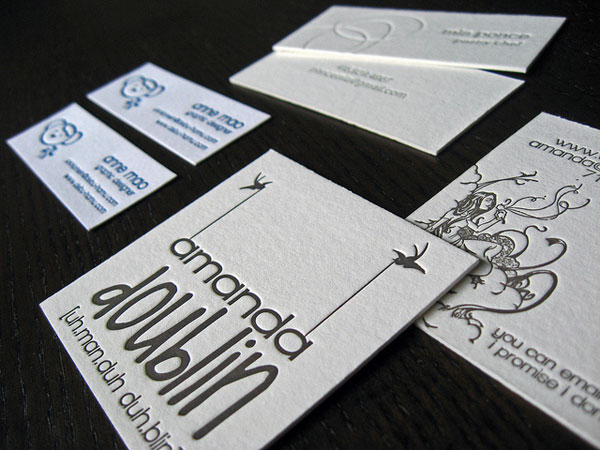 35 awesome letterpress business cards slodive square letterpress business card reheart Gallery