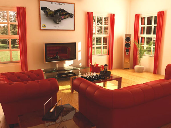 ... Red Living Room ... Part 49
