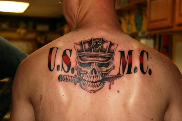 USMC Back Tattoo