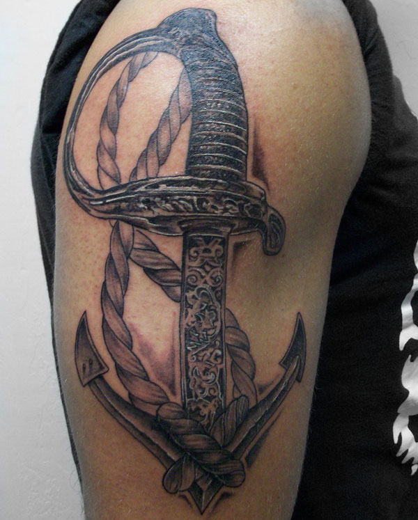 Marine Sword and Anchor