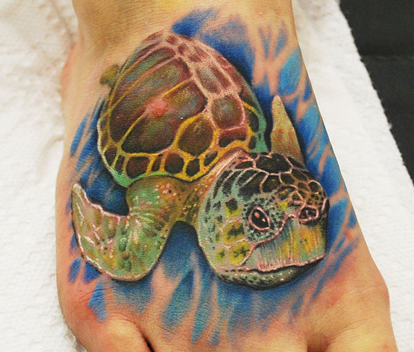 Melanie Loggerhead Sea Turtle Tattoo