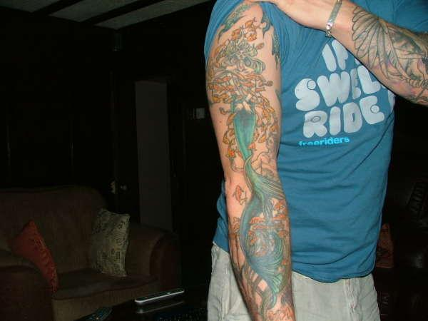 full arm mermaid 35 Spectacular Mermaid Tattoos