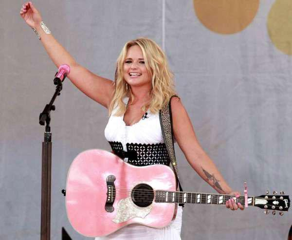 Miranda With Pink Guitar