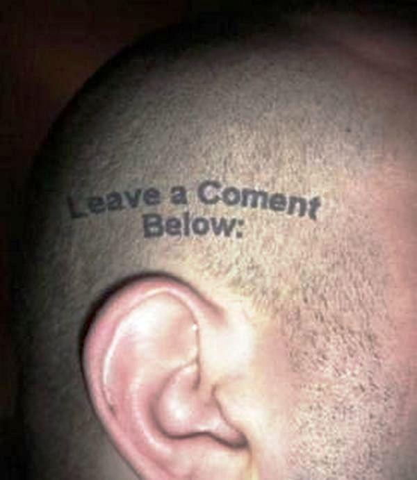 Comment Tattoo