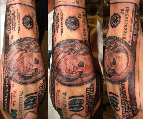 35 Arresting Money Tattoos - SloDive