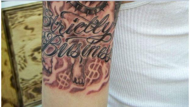 pit bull tattoo 35 Arresting Money Tattoos