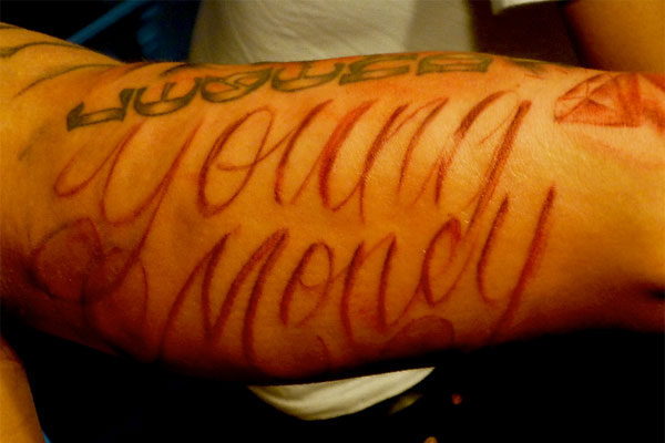 young money 35 Arresting Money Tattoos
