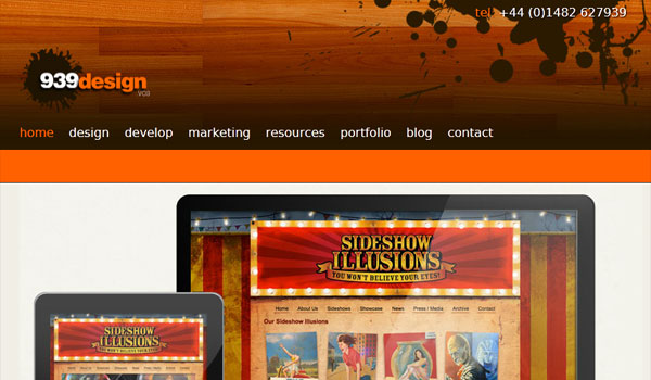 939 design 30 Orange Website Designs Which Look Stunning