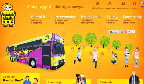 bambi bus 30 Orange Website Designs Which Look Stunning