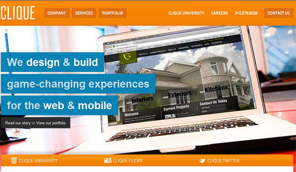 clique 30 Orange Website Designs Which Look Stunning