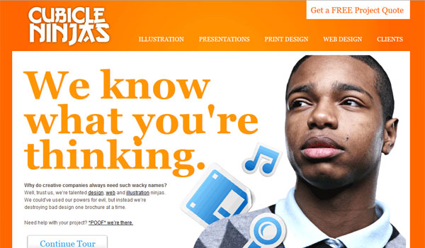 cubicle ninjas 30 Orange Website Designs Which Look Stunning