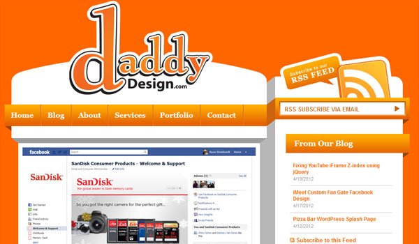 daddy design 30 Orange Website Designs Which Look Stunning
