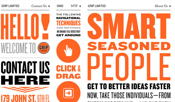 grip limited 30 Orange Website Designs Which Look Stunning