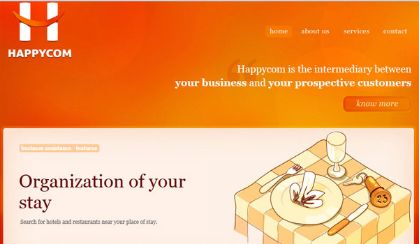happycom 30 Orange Website Designs Which Look Stunning
