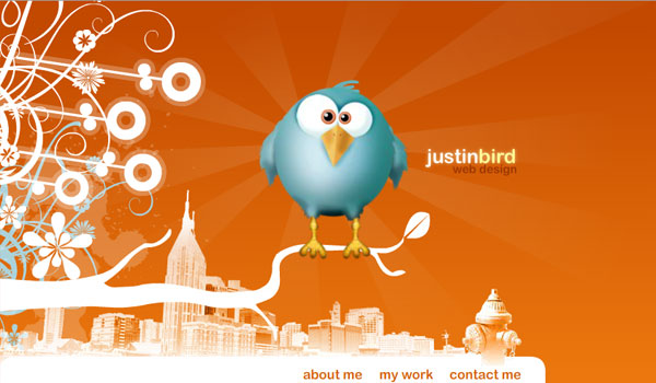 justinbird 30 Orange Website Designs Which Look Stunning