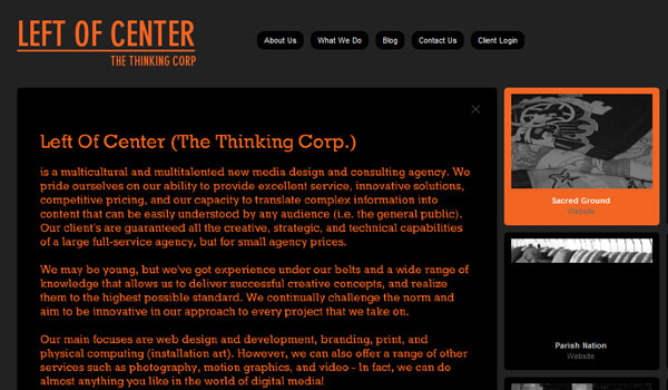 life of center 30 Orange Website Designs Which Look Stunning