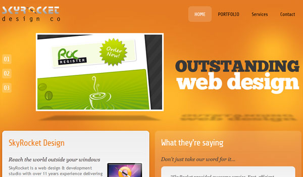 skyrocket 30 Orange Website Designs Which Look Stunning