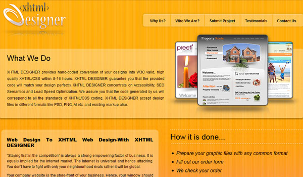 xhtml designer 30 Orange Website Designs Which Look Stunning