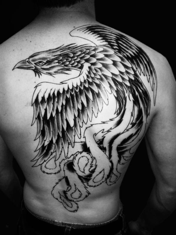 flying phoenix 50 Wonderful Phoenix Tattoo Designs