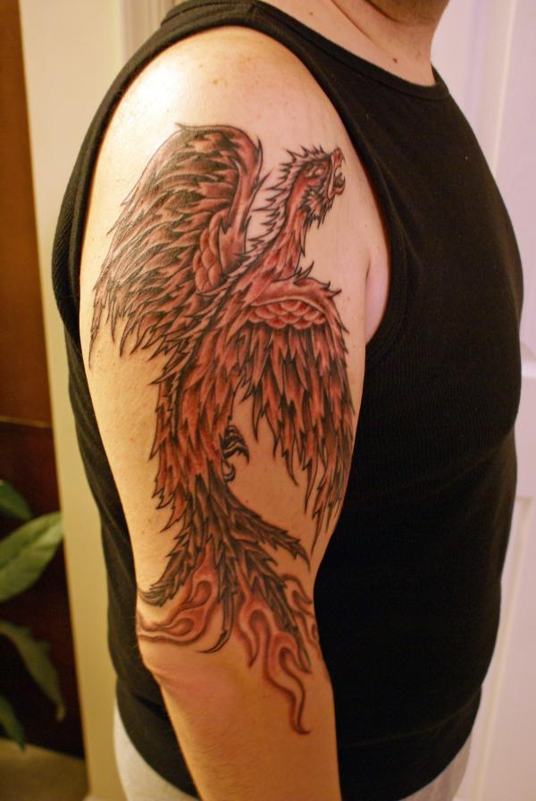 Full Arm Phoenix Tattoo