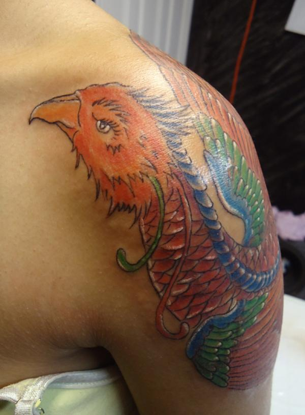 Shoulder Phoenix Tattoo