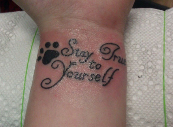 first tat 35 Groovy Quote Tattoos For Girls