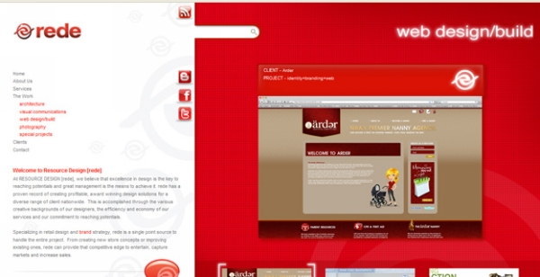 rede 30 Red Websites Which Look Great