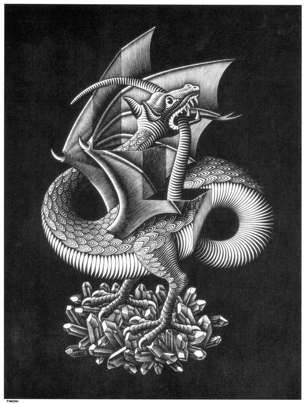 dragon optical illusion 30 Scary Optical Illusions To Charge Your Wits