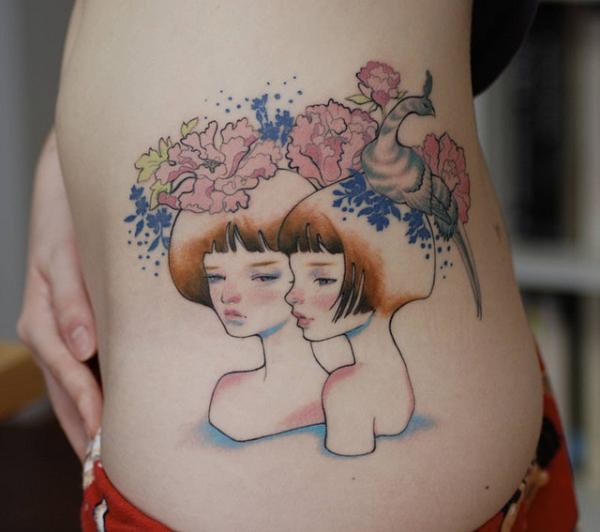 kawasaki tattoo 40 Remarkable Side Tattoos For Girls