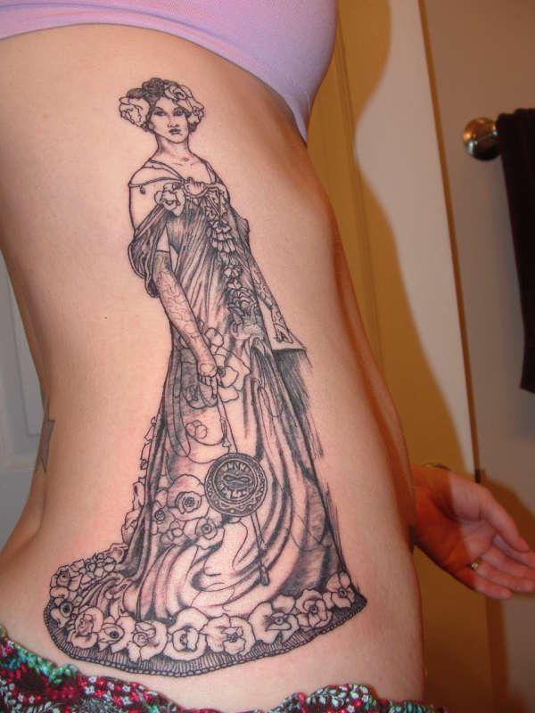 mucha on side 40 Remarkable Side Tattoos For Girls