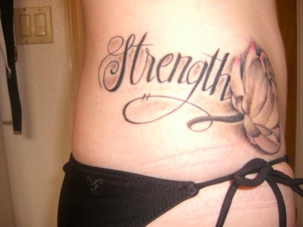 Strength Flower Tattoo