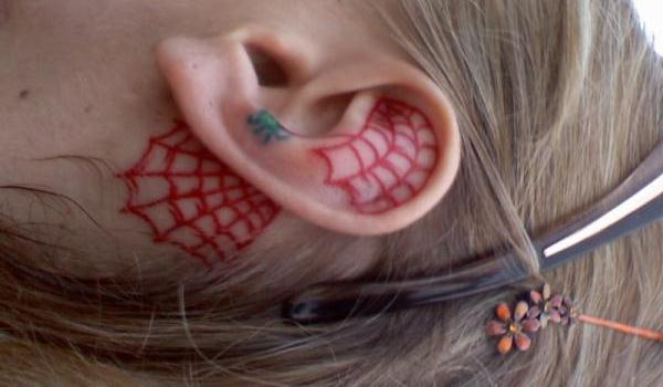 Ear Spider Web