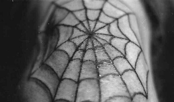 vintage spider web 35 Artistic Spider Web Tattoo Designs