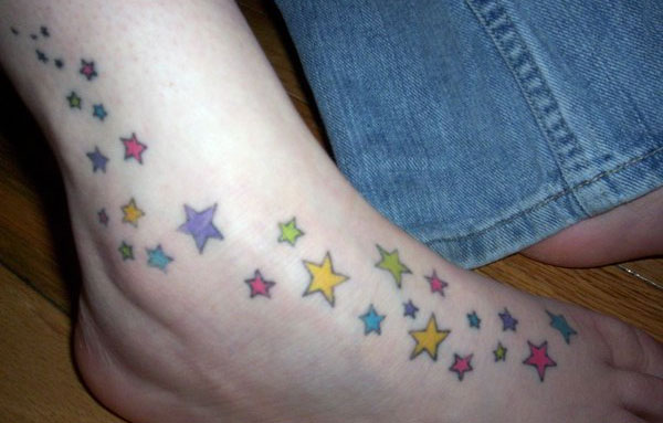 confetti 25 Cool Star Tattoos On Foot