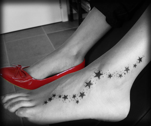 Star tattoo on foot scandal!