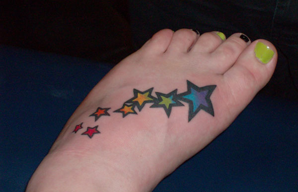 stars 25 Cool Star Tattoos On Foot
